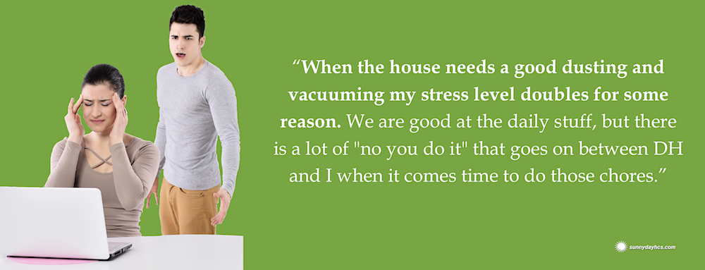 our stress levels double when we fight about housecleaning
